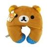 หมอนรองคอมีหมวก ลายหมีคุมะ สีน้ำตาล