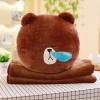 หมอนอิงตุ๊กตา หมีบราวน์ สีน้ำตาล น้ำมูกไหล