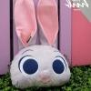 หมอนอิงตุ๊กตา หัวกระต่าย สีเทา ไม่มีผ้าห่ม