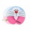 หมอนรองคอมีหมวก ลายDoraemon สีชมพู