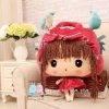 ตุ๊กตาผ้าห่ม เด็กหญิง ใส่หมวก สีแดง