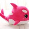 หมอนผ้าห่มแยกชิ้น ปลาโลมา มีลายด้านหลัง ตัวใหญ่ สีชมพู
