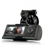 กล้องติดรถยนต์ R300 HD DVR 2 เลนส์ + GPS