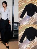 เสื้อคลุมแฟชั่นเบรเซอร์เอวคลอเซ้ท สีดำ