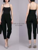 กางเกงขายาวแฟชั่นสีดำ