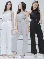 ชุดเซทแฟชั่น Halter top + Pants ดำ
