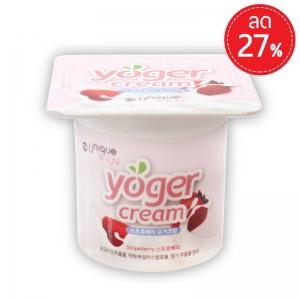 Yoger Cream มอยส์เจอร์ไรเซอร์บำรุงผิว ขนาด 50 กรัม สูตรสตรอเบอร์รี่