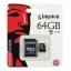 เมมโมรี่การ์ด Kingston 64 GB Class 10 thumbnail 1