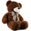 หมอนผ้าห่มแยกชิ้น ตุ๊กตาหมี สีน้ำตาลเข้ม