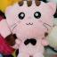 หมอนผ้าห่ม แมวเหมียว สีชมพู