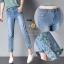 กางเกงยีนส์แฟชั่นทรงเดฟ ผ้ายีนส์ฮ่องกง
