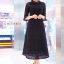 แมกซี่ลูกไม้ Dollita Embroidery Maxi Dress สีดำ