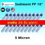 ไส้กรองน้ำ Sediment PP 10 นิ้ว x 2.5 นิ้ว 5 Micron Pentek USA แพ็ค 25 ชิ้น