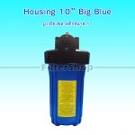 กระบอกกรองน้ำ Housing Big Blue ฟ้าทึบ 10 นิ้ว รูเกลียวพลาสติกขนาด 1 นิ้ว