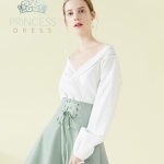 B005 White Rose Princess Dress