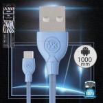 สายชาร์จ Micro USB 1M (สีฟ้า, รุ่น WDC-041) Ultraspeed Pro - WK