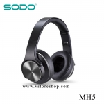 หูฟังอัจฉริยะ 2in1 เป็นลำโพงบลูทูธได้ SODO MH5 สีดำ