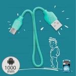 สายชาร์จ Micro 1M (WDC-018 Colorful) สีฟ้า - WK