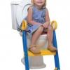 ฝารองชักโครกเด็กแบบมีบันได สามารถพับเก็บได้ - สีนำ้เงิน เหลือง