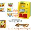 ตู้ ATM สำหรับเด็ก สีเหลือง มาพร้อม เงินแบงค์ในกล่อง