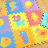 EVA แผ่นโฟมปูพื้น แผ่นโฟมปูพื้น ลายสัตว์ (คละสี/คละลาย)ขนาด 28*28 เซนติเมตร (16 แผ่น)