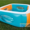 ( ขนาด 5 ฟุต ) Bestway - สระน้ำเป่าลม แบบสี่เหลี่ยม Bestway kids' play pool ขนาด 168 x 168 x 56 cm.