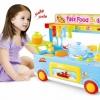 ชุดครัว Kitchen Toys Set รถเข็นอาหารจานด่วน สีฟ้า