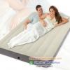 (ขนาด 4.5 ฟุต) ที่นอนเป่าลม Intex Deluxe Single-High Queen Size 64702 ที่นอนเป่าลมรุ่นดีลักซ์สีเบจ +สูบไฟฟ้า +แผ่นปะสำรอง