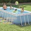 ( ขนาด 10 ฟุต ) สระน้ำขนาดใหญ่ PRISM FRAMETM RECTANGULAR POOL SET (w/220-240V Filter Pump, 28314 ขนาด 3.00mx1.75mx80cm
