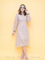 ชุดเดรสลูกไม้ พร้อมส่ง Dress ลูกไม้ สไตล์เกาหลี
