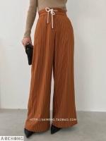 พร้อมส่ง กางเกงเอวสูง ทรงขาบานยาว