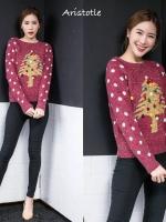 เสื้อเกาหลี พร้อมส่ง เสื้อ Christmas มี 2 สี