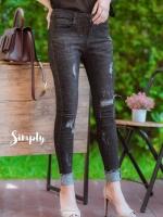 พร้อมส่ง Black Jeans ฟอกสีสวย