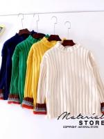 เสื้อเกาหลี พร้อมส่ง งานสเวตเตอร์ มี 4 สี