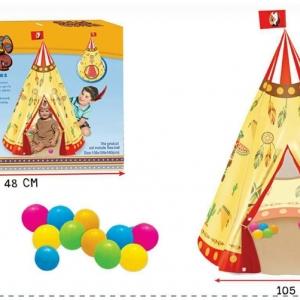 เต็นท์ บ้านบอล แบบโดม อินเดียนแดง พร้อมลูกบอลในกล่อง 12 ลูก