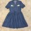 พร้อมส่ง Mini dress ยีน กระดุมคอหน้า 3 เม็ด thumbnail 5