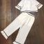 พร้อมส่ง เสื้อสีขาวกับกางเกงขายาว thumbnail 10
