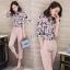 พร้อมส่ง เสื้อผ้าเกาหลี Sets เสื้อเชิ้ตผ้าพิมพ์ลายดอก thumbnail 9