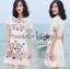 เดรสเกาหลี พร้อมส่ง เดรสผ้าเครปสีขาว กระโปรงเอไลน์ thumbnail 10