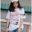 เสื้อเกาหลี พร้อมส่ง ทีเชิ้ตสีขาวปักดอกไม้ thumbnail 2