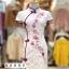 เดรสเกาหลี พร้อมส่ง เดรสกี่เพ้า สีขาวลายดอกเหมย thumbnail 3