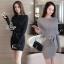 พร้อมส่ง Mini dress ไหมพรมทรงสวย thumbnail 1