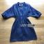 เดรสเกาหลี พร้อมส่ง เชิ้ตเดรส ผ้าคอตตอนสีน้ำเงิน thumbnail 11
