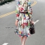 เสื้อผ้าเกาหลี พร้อมส่ง เสื้อ+กระโปรง ลายดอกไม้ thumbnail 3