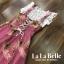 พร้อมส่ง เอี้ยมกระโปรงยาวลายดอกไม้เกาหลี thumbnail 12