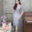 ชุดเดรสเกาหลี พร้อมส่ง Dress ลูกไม้คอวี thumbnail 15
