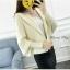 เสื้อเกาหลี พร้อมส่ง เสื้อคลุมจั้มปลายแขน มีฮู้ด thumbnail 3