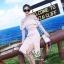 เดรสเกาหลี พร้อมส่ง เดรสผ้าลูกไม้ สีชมพูหวานบุซับในอย่างดี thumbnail 4