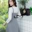 เสื้อผ้าเกาหลี พร้อมส่ง เสื้อแขนยาว+เดรสลายตาราง thumbnail 6