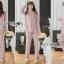 เสื้อผ้าเกาหลี พร้อมส่ง ชุดนอน เชิ้ต และกางเกงลายทาง thumbnail 1